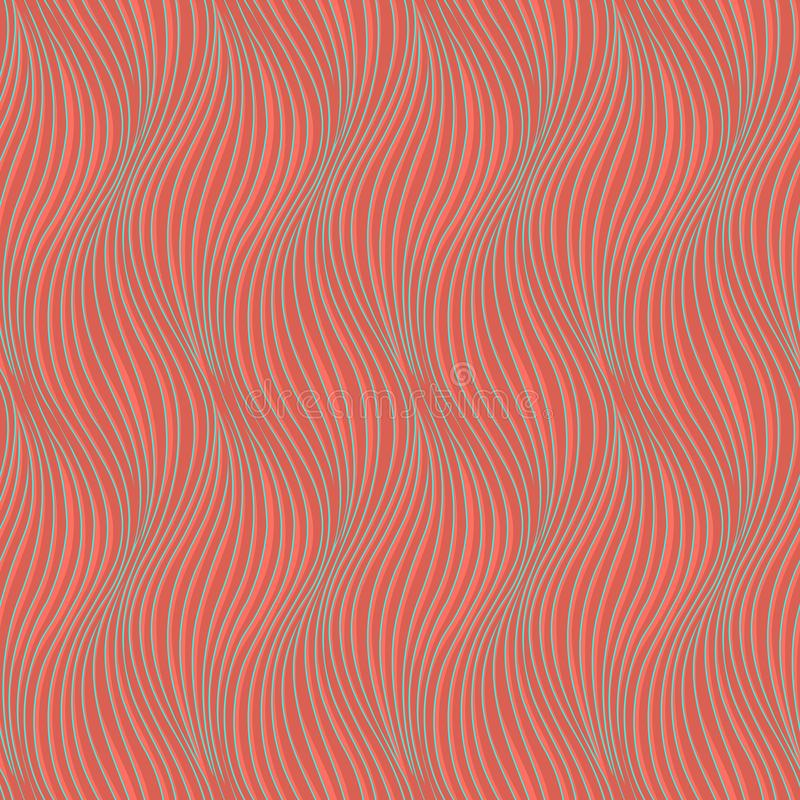 Seamless wavy background texture. Interior wall or wallpaper decoration. 3D waves or zig zag seamless pattern. Vector background o royalty free illustration