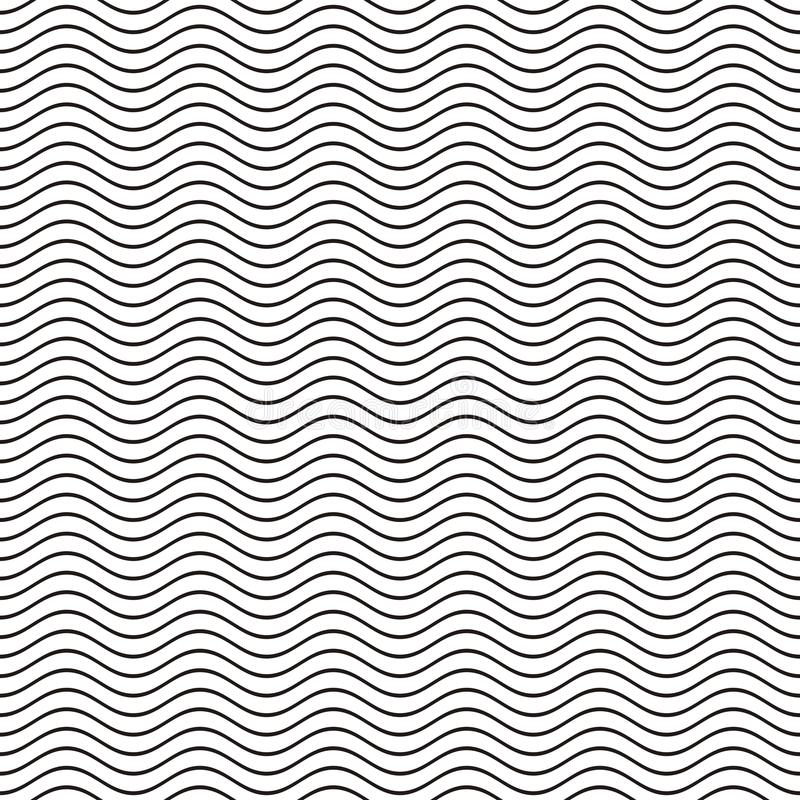 Free Seamless Wavy Line Pattern Stock Images - 54218454