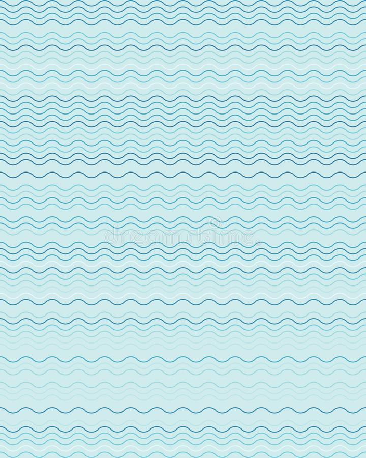 Seamless wavy lines simple pattern vector illustration