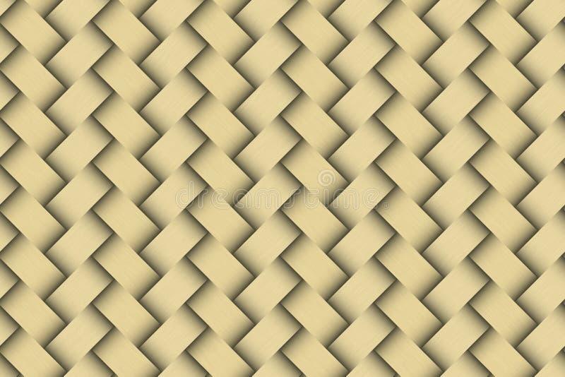 Download Seamless Weaving Golden Pattern Stock Illustration - Illustration of golden, fashion: 15076025