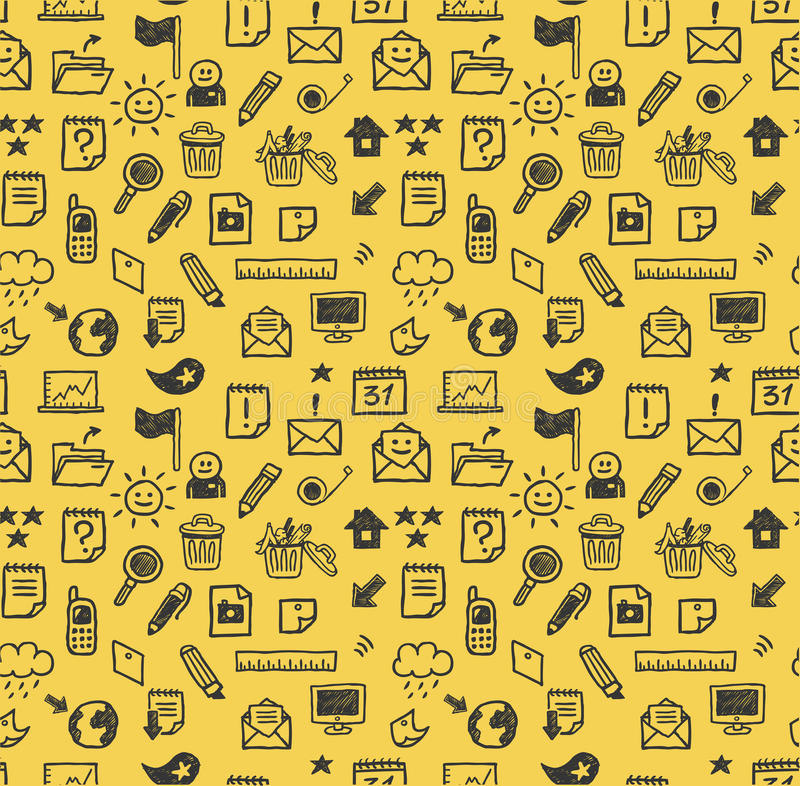 Download Seamless web icons pattern stock vector. Illustration of pencil - 14980559