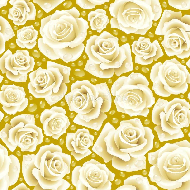 seamless white för bakgrundsrose royaltyfri illustrationer