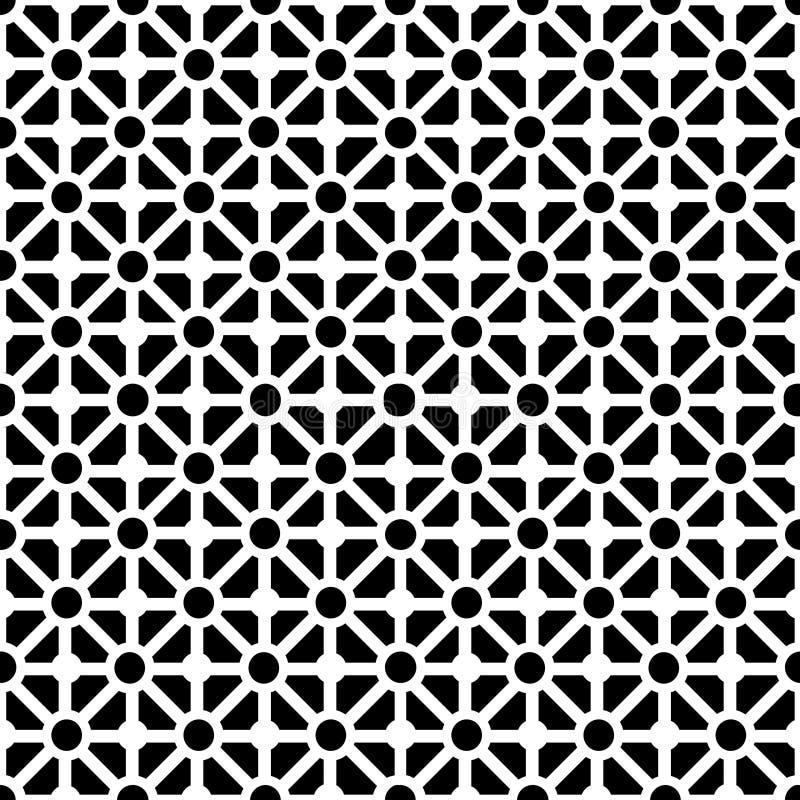 seamless white för svart geometrisk modell stock illustrationer