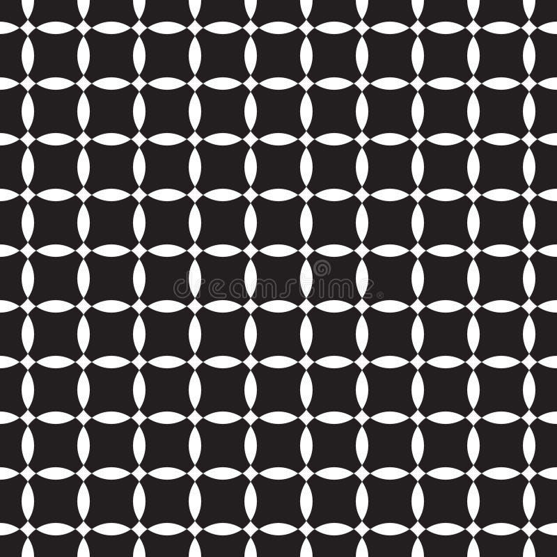 seamless white för svart modell vektor illustrationer