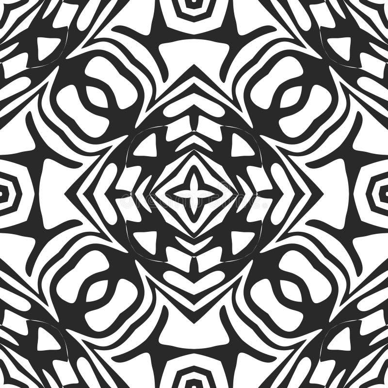 seamless white för svart modell royaltyfri illustrationer