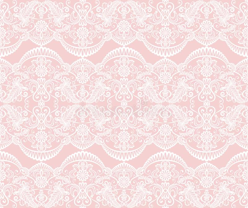 Seamless white lace royalty free illustration