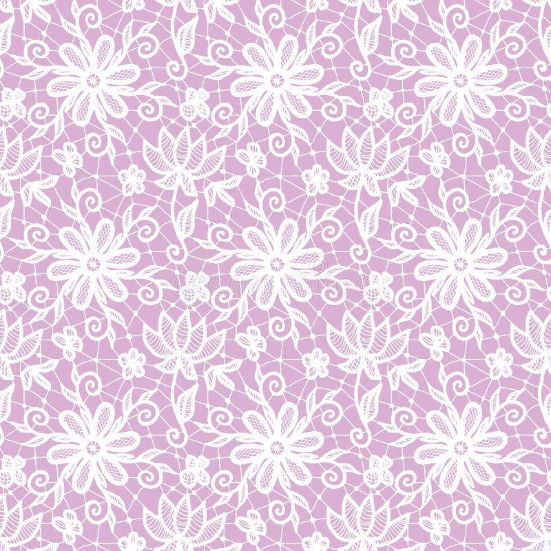 Seamless white lace stock illustration