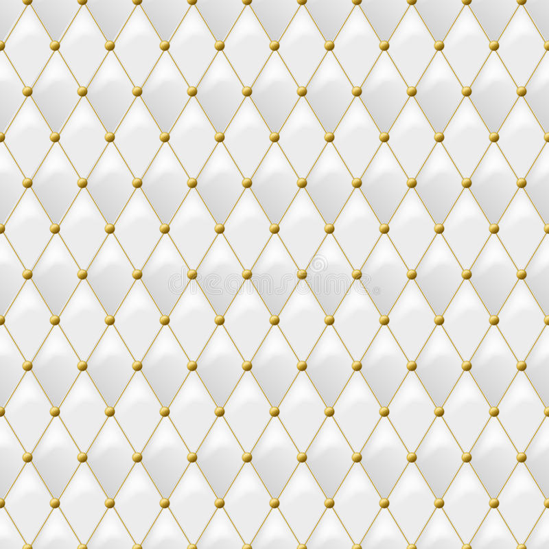 Download Seamless White Leather Texture With Gold Metal Details Vector Background Stock