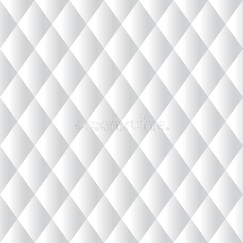 Seamless white padded upholstery pattern background. Texture vector illustration