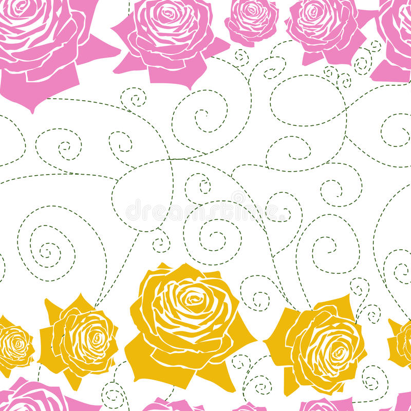 Download Seamless White Pattern Line Roses Stock Photos - Image: 19229383