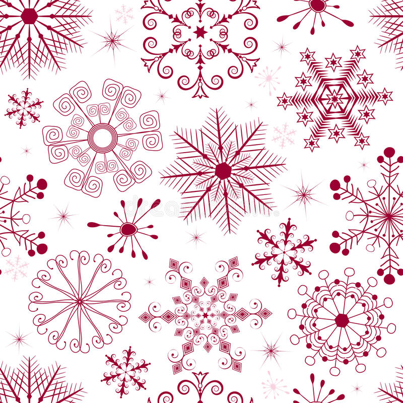 Seamless white-red christmas pattern