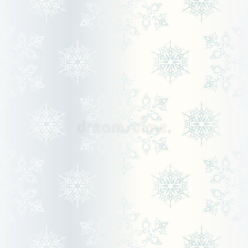 Seamless white satin background with stars. stock illustration