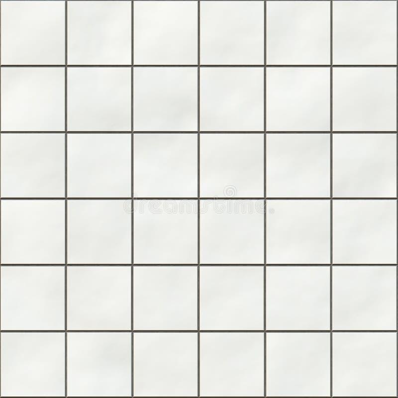 Seamless white square tiles stock illustration