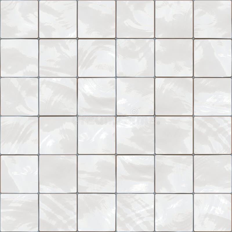 Seamless White Tiles Texture Stock Illustration - Image: 12494320