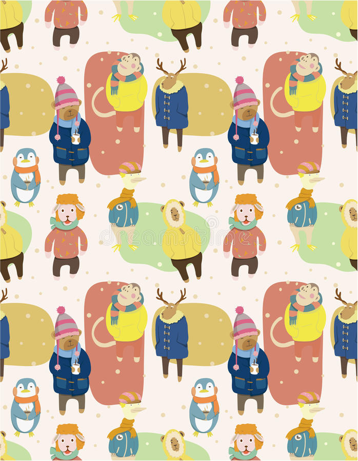 Download Seamless Winter Animal Pattern Stock Vector - Image: 17261358