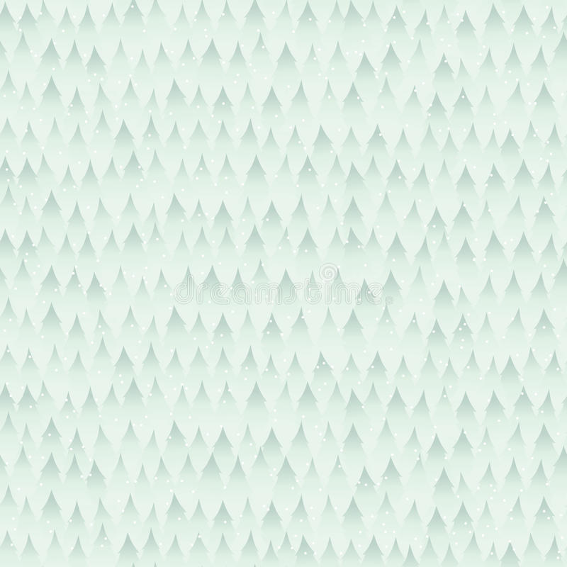 Seamless Winter Forest Background Pattern vector illustration