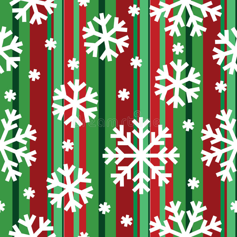Seamless Winter Pattern With Snowflakes Stock Photos