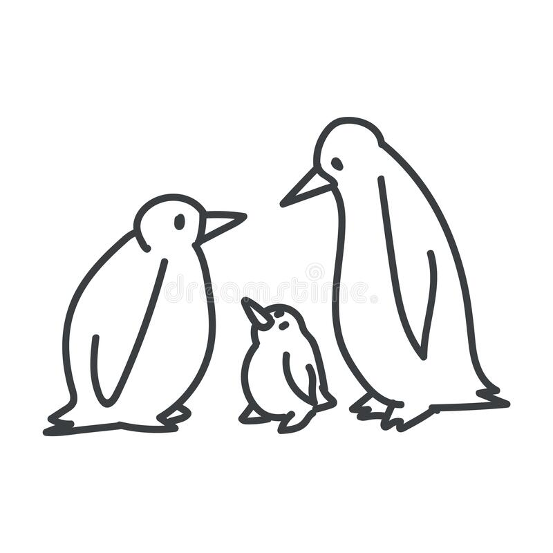 Penguins clipart black and white, Penguins black and white Transparent FREE  for download on WebStockReview 2020
