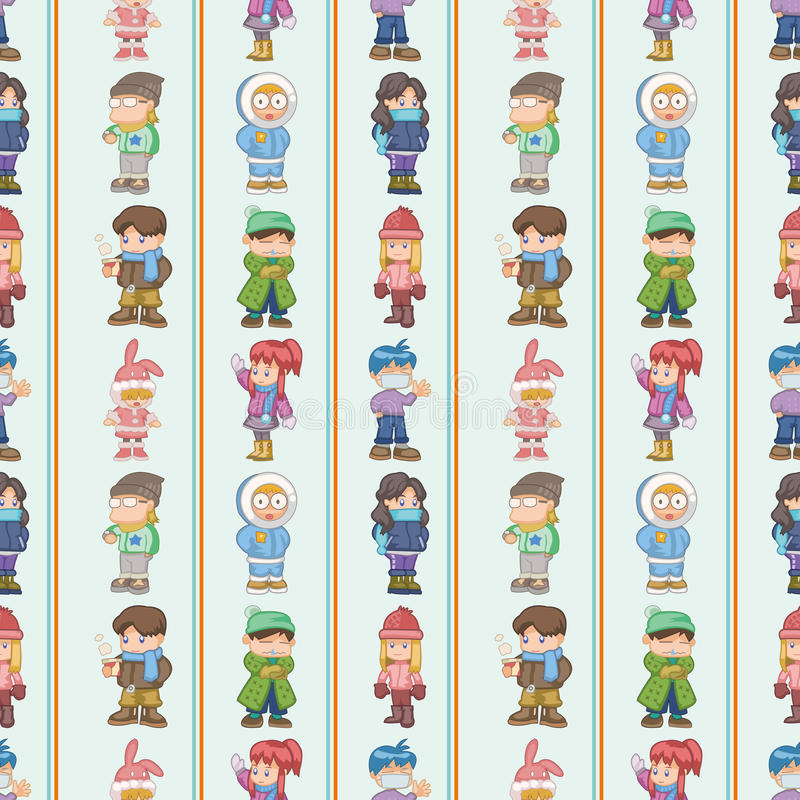 Download Seamless Winter People Pattern Stock Vector - Image: 28072221