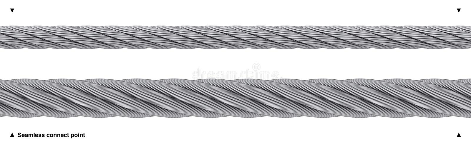 Seamless Wire Rope Heavy Duty Isolated Stock Image - Illustration of ...
