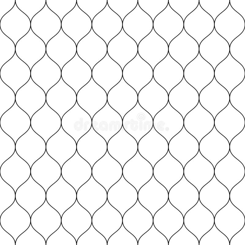 Seamless wired netting fence. Simple black vector illustration on white background royalty free illustration