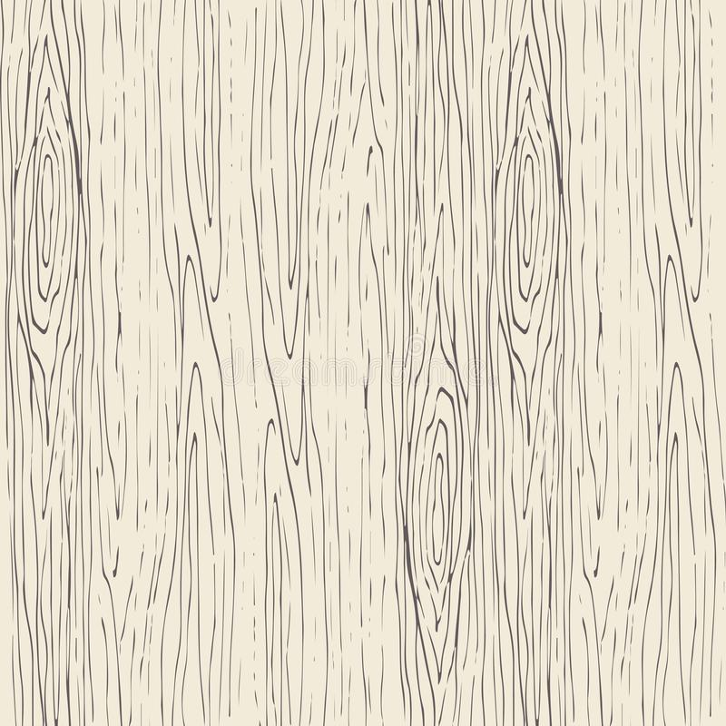 Seamless wood grain pattern. Wooden texture vector background. stock illustration
