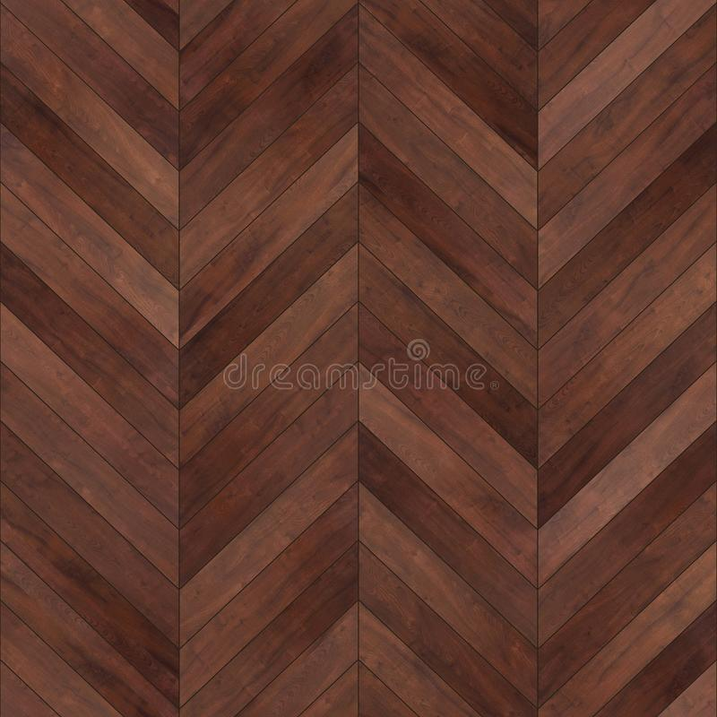Seamless wood parquet texture chevron brown stock images