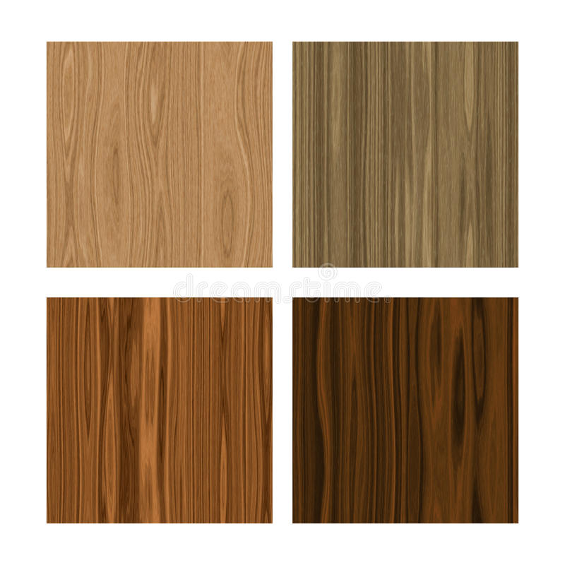 Seamless wood textures royalty free illustration