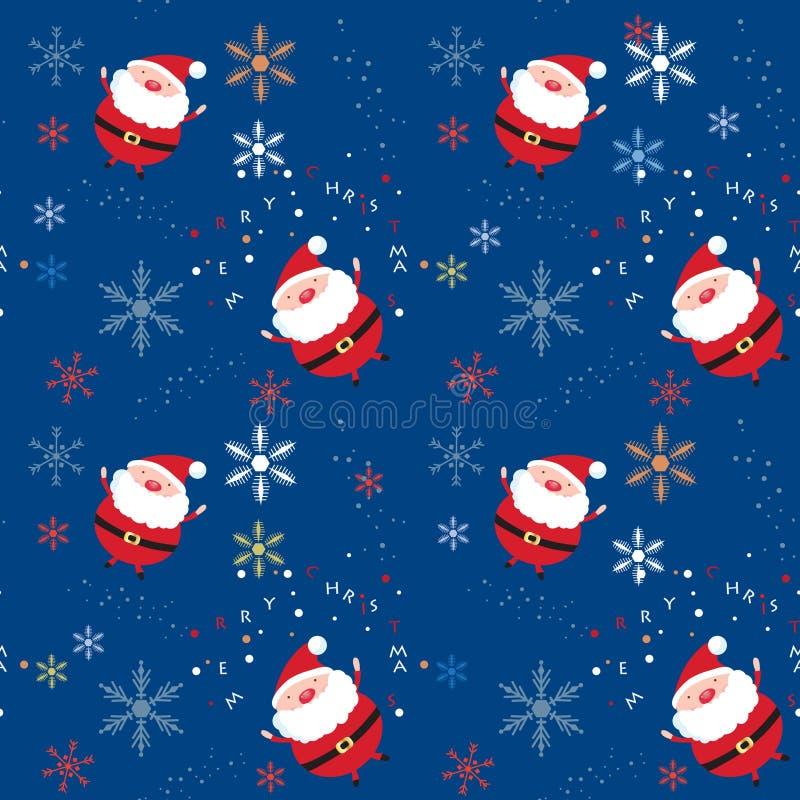Download Seamless Xmas Pattern With Santa And Snowflakes Royalty Free Stock Photos - Image: 16860348