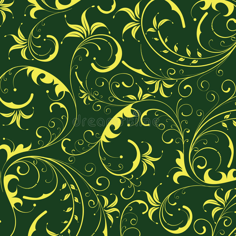 Download Seamless Yellow Flower Pattern Stock Illustration - Image: 13827064