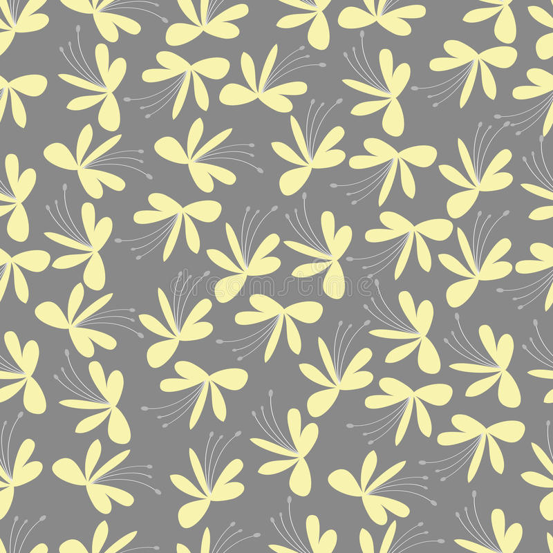 Download Seamless Yellow Flower Pattern Stock Vector - Image: 27043735