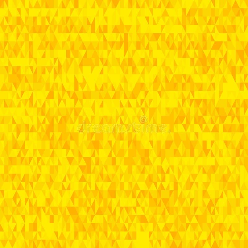 Seamless Yellow Triangle Pattern Background. A seamless grid of golden yellow triangles vector illustration