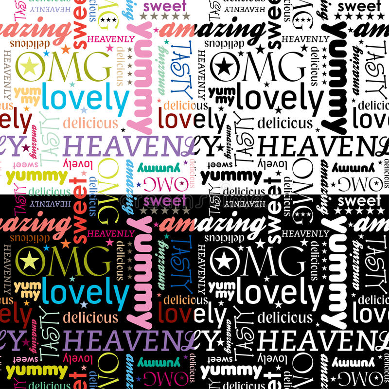 Download Seamless Yummy Pattern stock vector. Illustration of expressions - 20178310