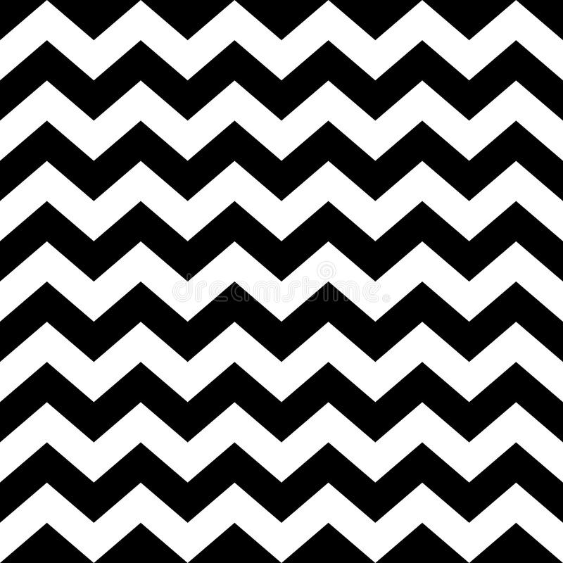 Free Seamless Zig Zag Pattern In Black And White Stock Image - 52004771