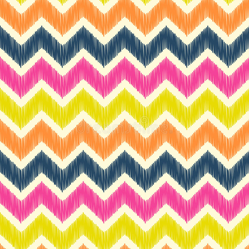Seamless zig zag pattern royalty free illustration
