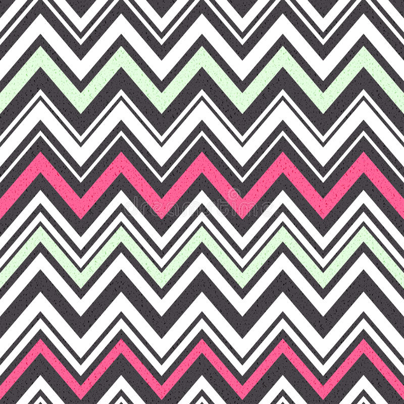 Seamless zig zag stripes pattern royalty free illustration