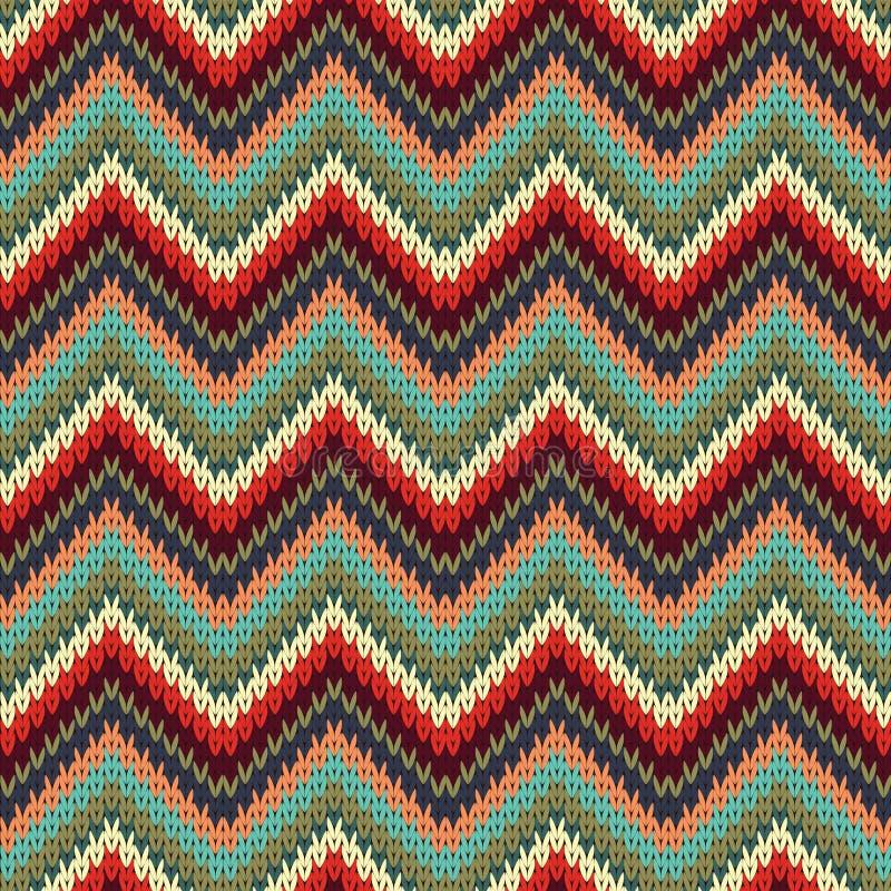 Seamless Zigzag Knitting Pattern Stock Vector Illustration Of