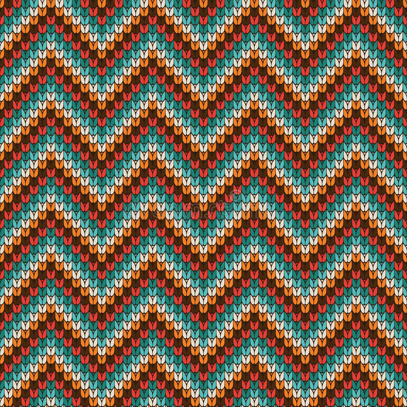 Seamless Zigzag Knitting Pattern Stock Vector - Illustration of ...