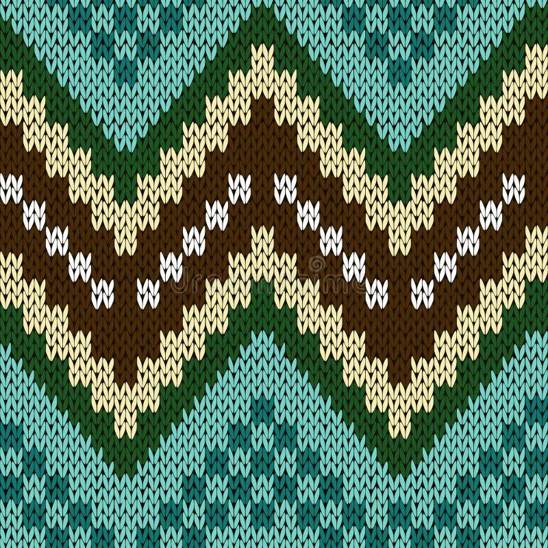 Seamless Zigzag Knitting Pattern Stock Vector ...
