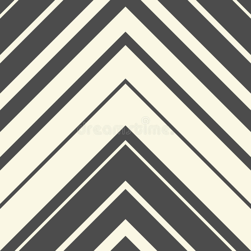 Seamless ZigZag Pattern. Abstract Black and White Arrow Background stock illustration