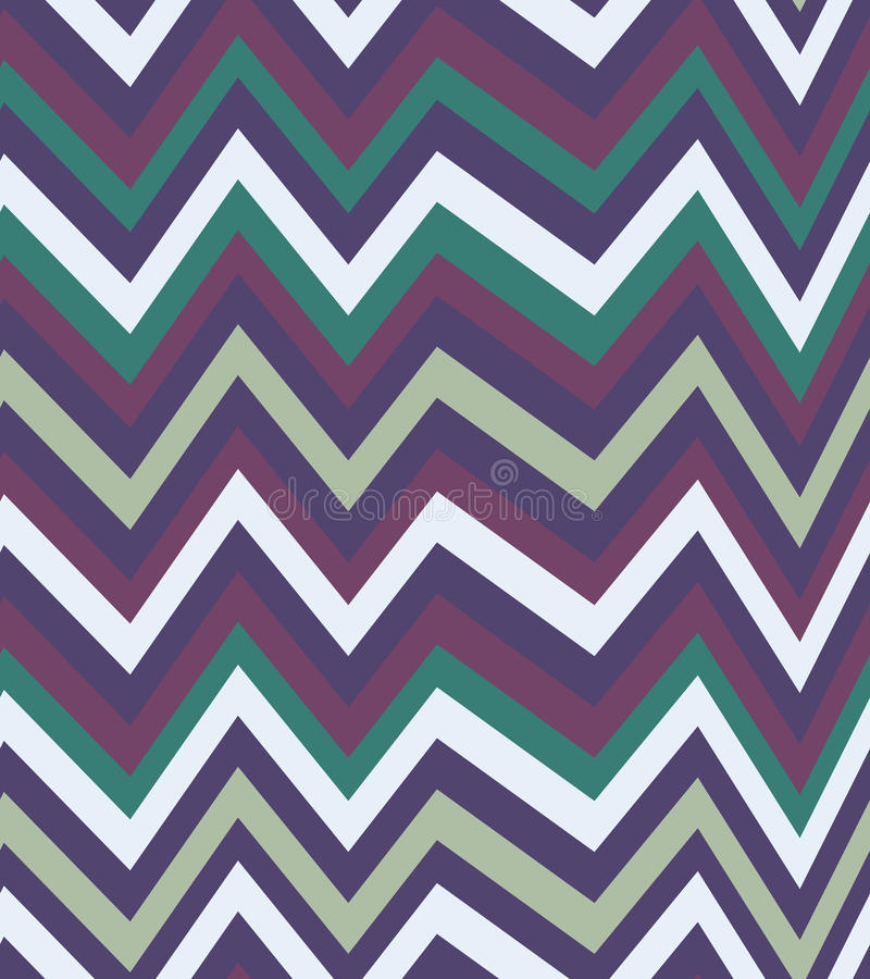 Seamless zigzag pattern of parallel lines. Geometric wave. Seamless background with horizontal black stripes in zigzag. stock illustration
