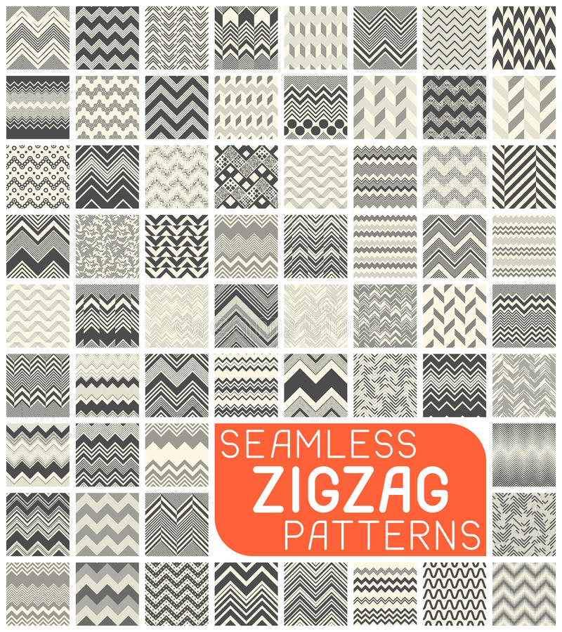 Seamless Zigzag Pattern Set. Abstract Vector Chevron Background. Seamless Zigzag Pattern Set. Chevron Grapic Print Design. Abstract Vector Background. Black and royalty free illustration