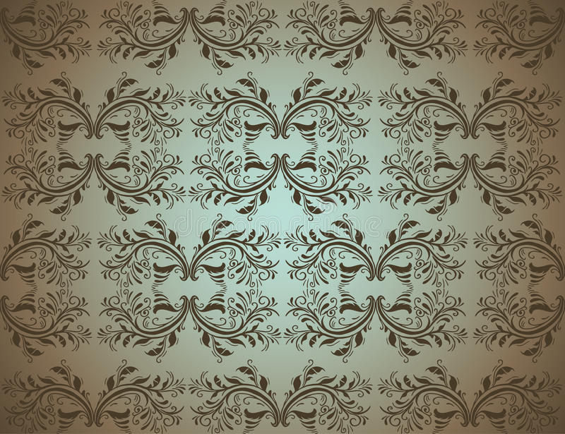 Download Seamlessly Damask Wallpaper Stock Vector - Image: 16040031
