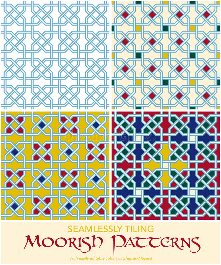 Download Seamlessly Tiling Moorish Patterns Set Stock Vector - Illustration of element, seamlessly: 32809980