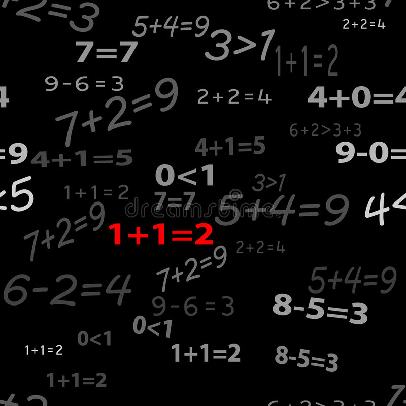 Seamlessly wallpaper funny mathematics