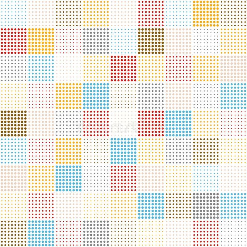 Seamlesspattern - cuadrados de diversos puntos ilustración del vector