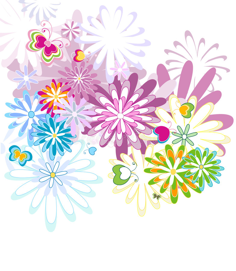 Seamlles pattern. Seamless flower pattern, colorful background vector illustration