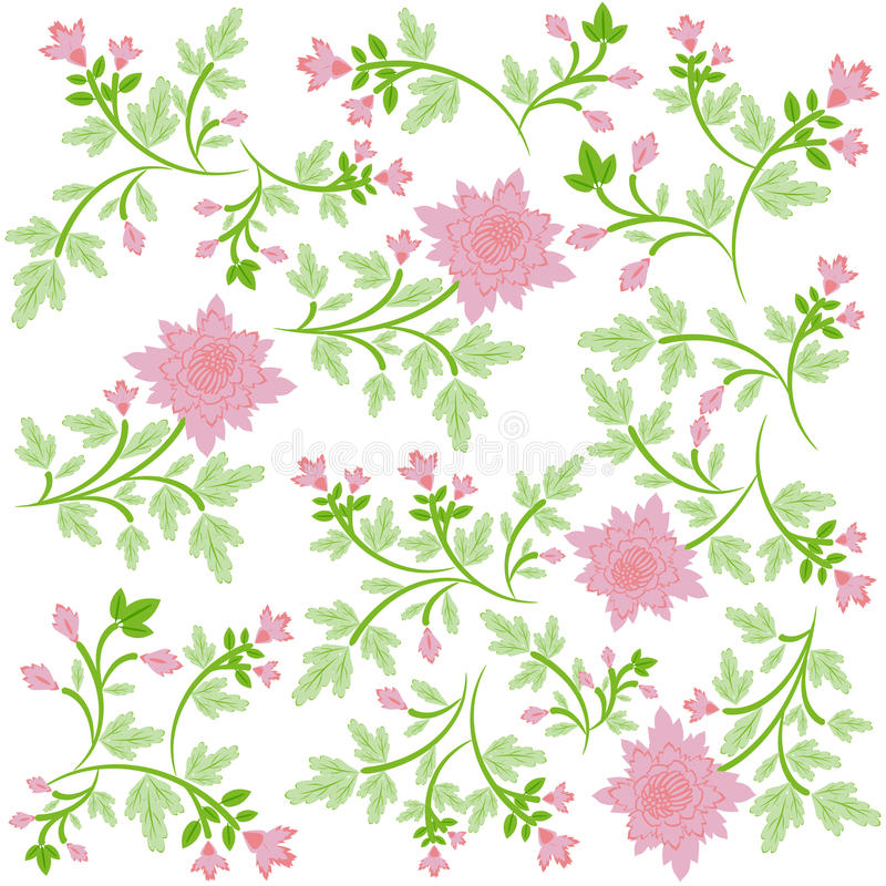 Free Seamsless Ornate Floral Background Royalty Free Stock Image - 13819046