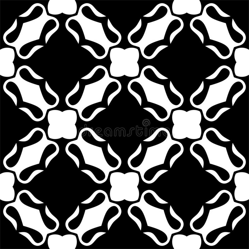 Seamless pattern black and white royalty free stock photo