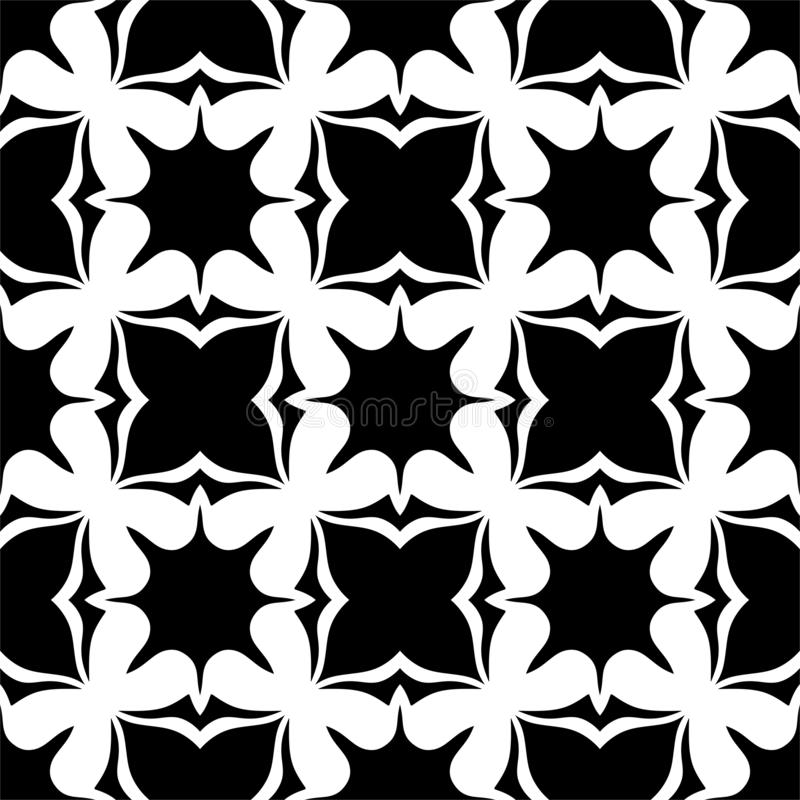 Seamless pattern black and white stock images